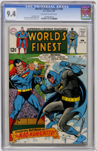 World's Finest Comics #182 (DC, 1969) CGC NM 9.4 Off-white to white pages
