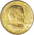 Commemorative Gold: , 1922 G$1 Grant with Star MS65 PCGS. Crisply struck with outstandingdetail on Grant's hair, and the usual wispy die lines (...