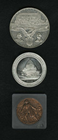 Expositions and Fairs: , Lot of Three Columbian Exposition Medals. The lot includes: 1893Saint-Gaudens and Barber Medal, HK-223, Choice AU; 18... (Total: 3pieces)