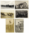 Photography:Studio Portraits, LOT OF SIX REAL PHOTO POSTCARDS DEPICTING WESTERN SCENES - ca.1907-20. This is a nice lot of six real photo postcards depict... (Total: 1 Item)