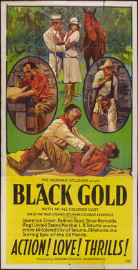 "Black Gold (Norman, 1928). Three Sheet (41"" X 81""). Black Films"