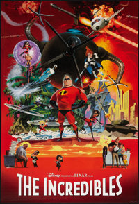 """The Incredibles (Buena Vista, 2004). One Sheet (27"""" X 40""""). SS Advance. Animated"""