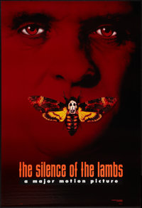 "The Silence of the Lambs (Orion, 1990). One Sheet (27"" X 40"") DS Advance Style C. Thriller"