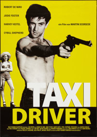 "Taxi Driver (Columbia, R-2000s). German A1 (23"" X 33""). Crime"
