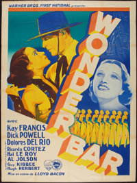 "Wonder Bar (Warner Brothers-First National, 1934). French Grande (47"" X 63""). Musical"
