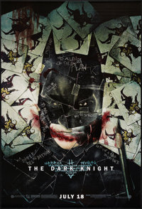 """The Dark Knight (Warner Brothers, 2008). One Sheet (27"""" X 40""""). SS Advance Style H. Action"""