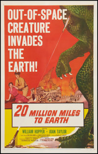 "20 Million Miles to Earth (Columbia, 1957). One Sheet (27"" X 41""). Science Fiction"