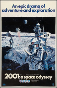 "2001: A Space Odyssey (MGM, 1968). Cinerama One Sheet (27"" X 41"") Style B. Science Fiction"