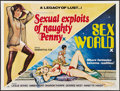 "Movie Posters:Adult, Sexual Exploits of Naughty Penny/Sex World Combo (Topart, 1978). British Quad (30"" X 40""). Adult.. ..."