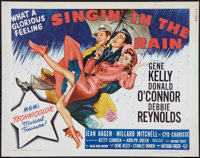 "Singin' in the Rain (MGM, R-1962). Half Sheet (22"" X 28""). Musical"