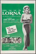 "Movie Posters:Sexploitation, Lorna (Eve Productions, 1964). One Sheet (27"" X 41"").Sexploitation.. ..."