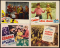 "Movie Posters:Adventure, Buster Crabbe Lot (PRC, 1940s). Title Lobby Cards (2) & LobbyCards (2) (11"" X 14""). Adventure.. ... (Total: 4 Items)"