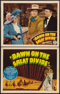 """Dawn on the Great Divide (Monogram, 1942). Title Lobby Card and Lobby Card (11"""" X 14""""). Western. ... (Total: 2..."""