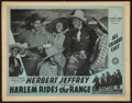 "Movie Posters:Black Films, Harlem Rides the Range (Sack Amusement Enterprises, 1939). Lobby Card (11"" X 14""). Black Films.. ..."