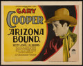 "Movie Posters:Western, Arizona Bound (Paramount, 1927). Title Lobby Card (11"" X 14"").Western.. ..."