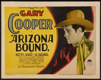 "Arizona Bound (Paramount, 1927). Title Lobby Card (11"" X 14""). Western"