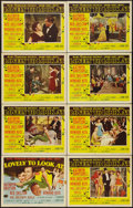 "Movie Posters:Musical, Lovely to Look At (MGM, 1952). Lobby Card Set of 8 (11"" X 14""). Musical.. ... (Total: 8 Items)"