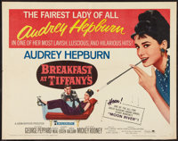 "Breakfast at Tiffany's (Paramount, R-1965). Half Sheet (22"" X 28""). Romance"
