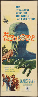"The Cyclops (RKO, 1957). Insert (14"" X 36""). Horror"