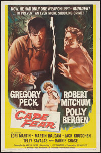 "Cape Fear (Universal International, 1962). One Sheet (27"" X 41""). Thriller"