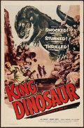 "Movie Posters:Science Fiction, King Dinosaur (Lippert, 1955). One Sheet (27"" X 41""). ScienceFiction.. ..."