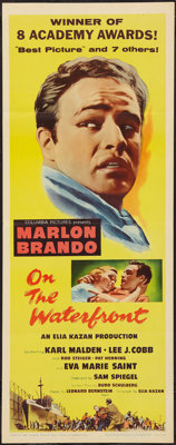 """On the Waterfront (Columbia, R-1959). Insert (14"""" X 36""""). Academy Award Winners"""