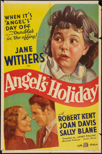 "Angel's Holiday (20th Century Fox, 1937). One Sheet (27"" X 41""). Comedy"