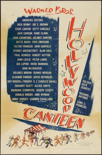 "Hollywood Canteen (Warner Brothers, 1944). One Sheet (27"" X 41""). Musical"