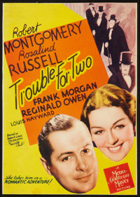 "Trouble for Two (MGM, 1936). Midget Window Card (7.5"" X 10.5""). Mystery"