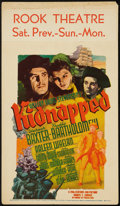 "Movie Posters:Adventure, Kidnapped (20th Century Fox, 1938). Midget Window Card (8"" X 14"").Adventure.. ..."