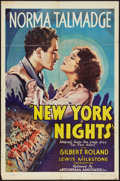 "Movie Posters:Crime, New York Nights (Artcinema Associates, Inc., R-1938). One Sheet(27"" X 41""). Crime.. ..."