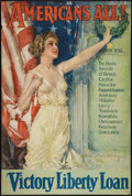 "Movie Posters:War, World War I Propaganda Poster (Forbes, 1919). Liberty Loan Poster by Howard Chandler Christy (27"" X 40""). ""Americans..."
