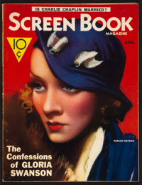 "Screen Book (Fawcett Publications, Aug., 1933). Magazine (Multiple Pages, 8.75"" X 11""). Miscellaneous"