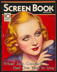 """Screen Book (Fawcett Publications, March, 1933). Magazine (Multiple Pages, 8.75"""" X 11""""). Miscellaneous"""