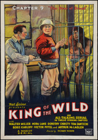 "King of the Wild (Mascot, 1931). One Sheet (27"" X 41"") Chapter 9 -- ""The Door of Dread."" Serial"
