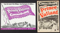 "Movie Posters:Adventure, Prince Valiant (20th Century Fox, 1954). Uncut Pressbook (MultiplePages, 14"" X 18"") and Herald (4 Pages, 11.25' X 16.5""). A...(Total: 2 Items)"