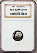 Proof Roosevelt Dimes, 2007-S 10C Silver PR70 Ultra Cameo NGC. NGC Census: (0). PCGSPopulation (399). Numismedia Wsl. Price for problem free NGC...