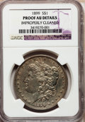 Proof Morgan Dollars: , 1899 $1 -- Improperly Cleaned -- NGC Details. Proof AU. NGC Census:(4/158). PCGS Population (13/200). Mintage: 846. Numism...
