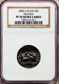 Proof Statehood Quarters, 2006-S 25C Nevada Clad PR70 Ultra Cameo NGC. NGC Census: (0). PCGSPopulation (259). Numismedia Wsl. Price for problem fre...