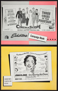 "Three Coins in the Fountain and Other Lot (20th Century Fox, 1954). Uncut Pressbooks (2) (Multiple Pages, 14"" X 18&..."