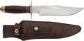 Edged Weapons:Knives, World War II Era Abercrombie & Fitch Bowie Knife and Scabbard....