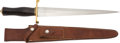 Edged Weapons:Knives, Randall Model 13-12 Arkansas Toothpick with Scabbard c. 1960....