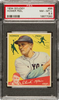 Baseball Cards:Singles (1930-1939), 1934 Goudey Homer Peel #88 PSA NM-MT+ 8.5 - Pop One! ...