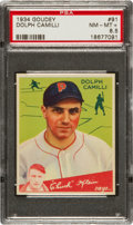Baseball Cards:Singles (1930-1939), 1934 Goudey Dolph Camilli #91 PSA NM-MT+ 8.5 - Pop Two! ...
