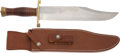 Edged Weapons:Knives, Randall Model 12-11 Smithsonian Bowie Knife and Scabbard....