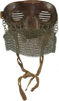 Arms Accessories:Tools, Rare British WWI Anti-Shrapnel Tanker's Mask....