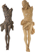 Antiques:Antiquities, Pair of 18th-Century German Carved Wooden Corpus'.... (Total: 2Items)