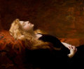 Paintings, VICTOR GABRIEL GILBERT (French, 1847-1933). Le Repos. Oil on canvas. 23-1/2 x 25-1/2 inches (59.7 x 64.8 cm). Signed low...