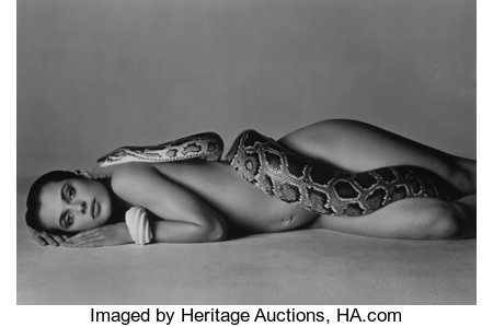 RICHARD AVEDON (American, 1923-2004) Nastassja Kinski and the Serpent, 14 June, 1981 Gelatin silver, printed 1982 28-...