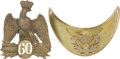 Antiques:Antiquities, Lot of One French Military Helmet Plate and One Gorget.... (Total: 2 )